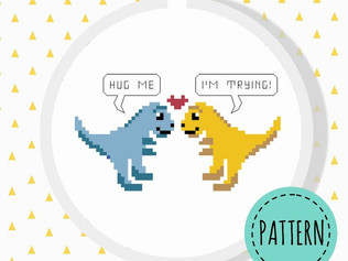 T-rex cross stitch pattern