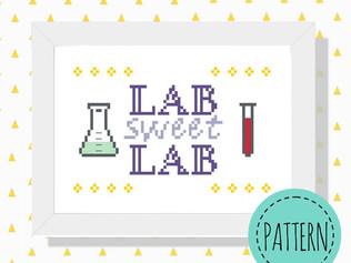Lab sweet lab cross stitch pattern
