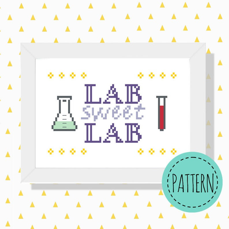 Lab sweet lab cross stitch pattern
