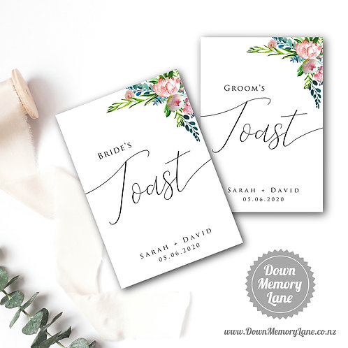 Toast Book - Classic Pink Peony - Style 1