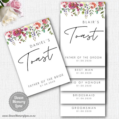 Toast Book - Contemporary Spring Floral