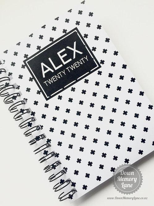 Diary - Crosses on White