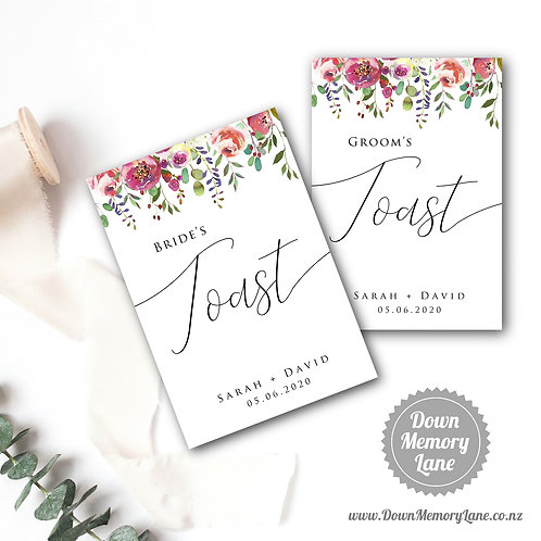 Toast Book - Classic Spring Floral - Style 1