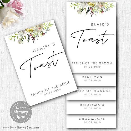 Toast Book - Contemporary White Flora