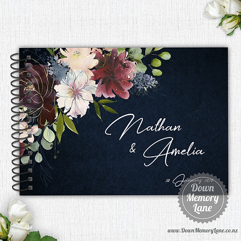 A4 Size - Blooms on Blue