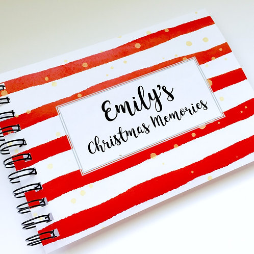 A5 Size - Christmas Stripes