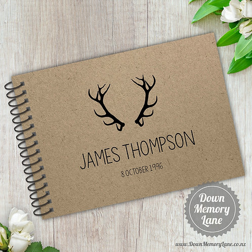 A5 Size - Birthday Antlers on Kraft