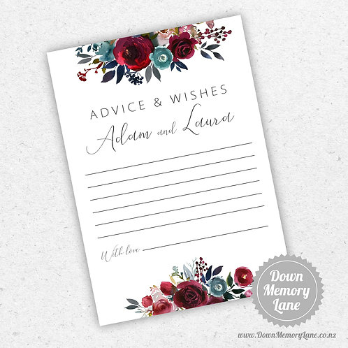 Advice Cards - Merlot