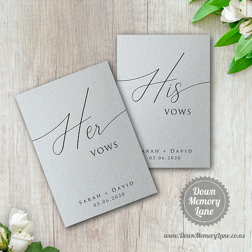 Vow Book - Classic Silver - Style 2