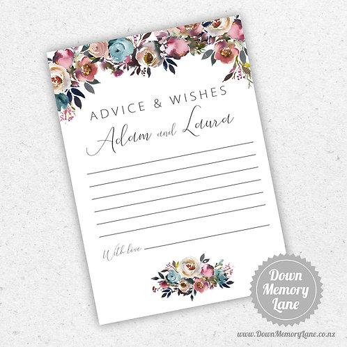 Advice Cards - Pastel Pink Drop