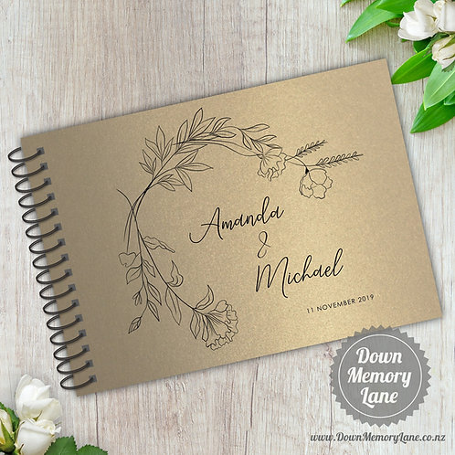 A5 Size - Simple Botanicals on Gold