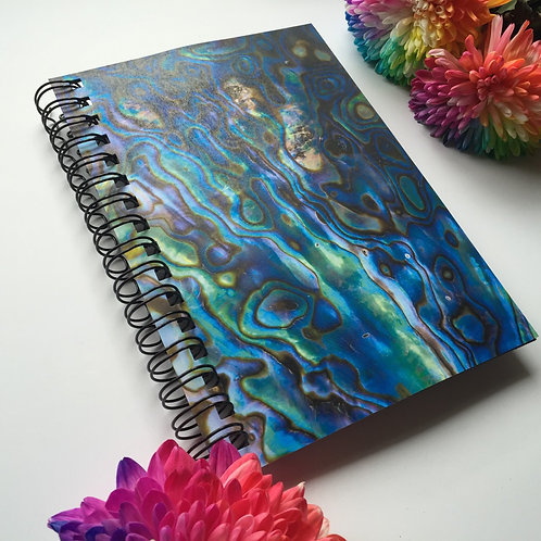 A5 Size - Notebook / Visual Diary - Paua