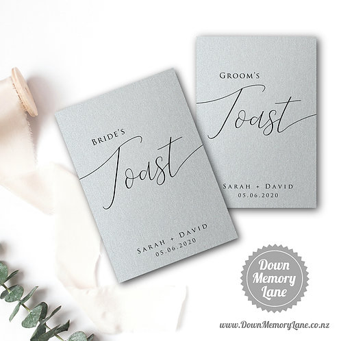 Toast Book - Classic Silver - Style 1