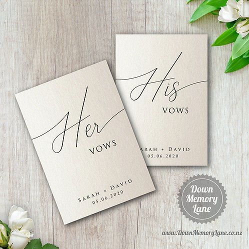 Vow Book - Classic Ivory Shimmer - Style 2