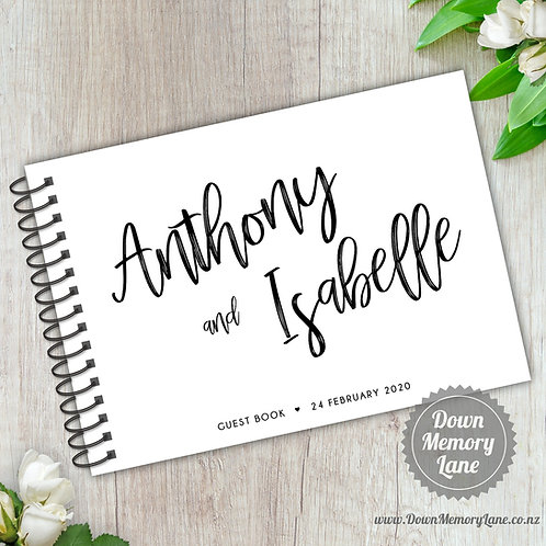 A5 Size - Funky Names on White