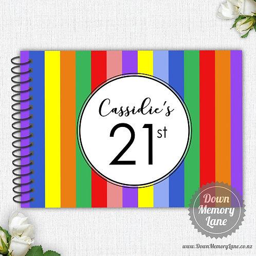 A4 Size - Birthday Coloured Stripes