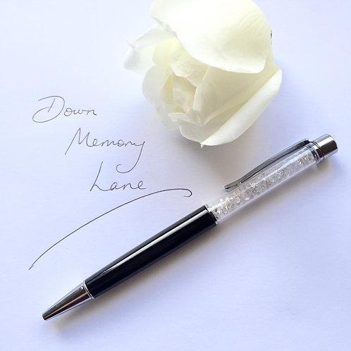 Swarovski Crystal Pen - Black & Silver