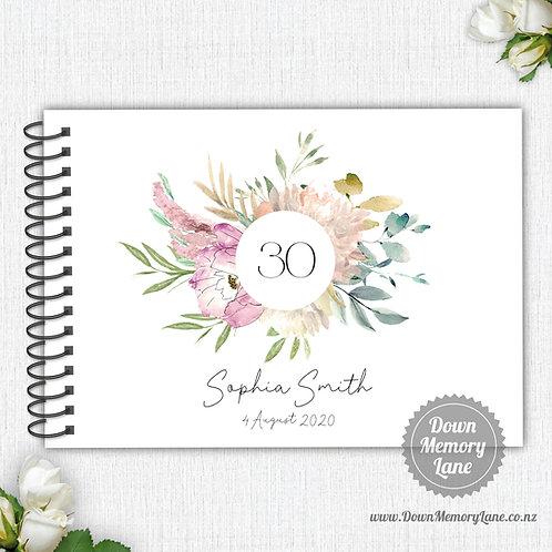 A4 Size - Birthday Pastel Grace