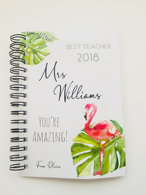 A4 Size - Gift Notebook - Flamingo