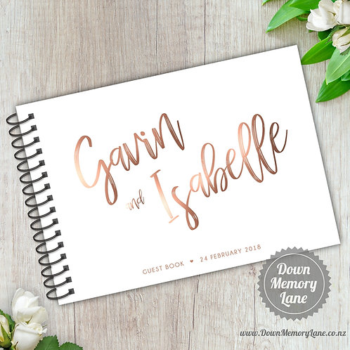 A5 Size - Funky Names - Rose Gold Effect