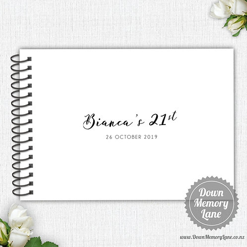 A4 Size - Birthday Simplicity on White