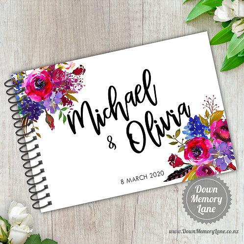 A5 Size - Magenta Florals