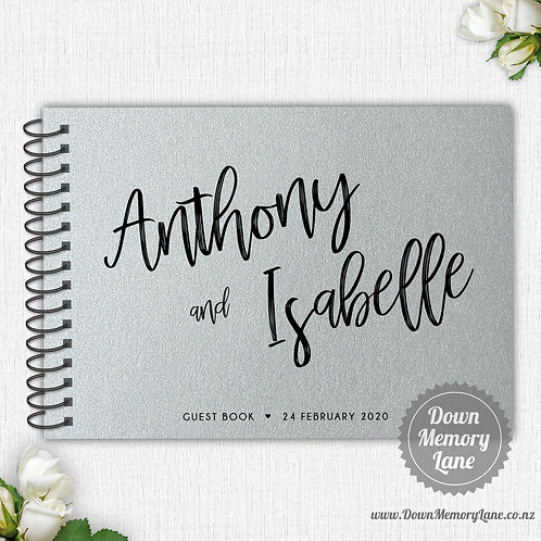 A4 Size - Funky Names on Silver