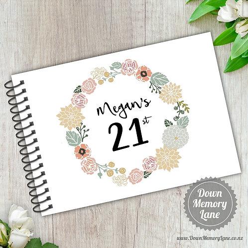 A5 Size - Birthday Floral Wreath