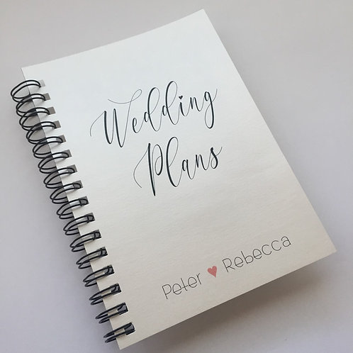 A5 Size - Wedding Plans on Shimmery Ivory