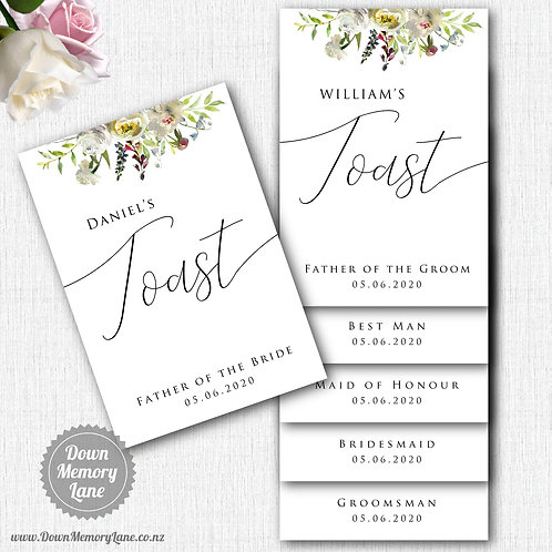 Toast Book - Classic White Flora