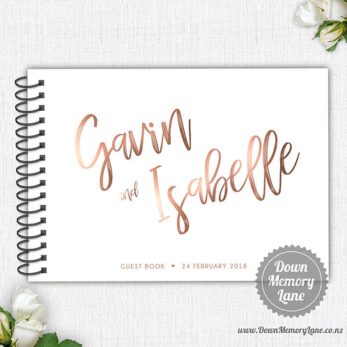 A4 Size - Funky Names - Rose Gold Effect
