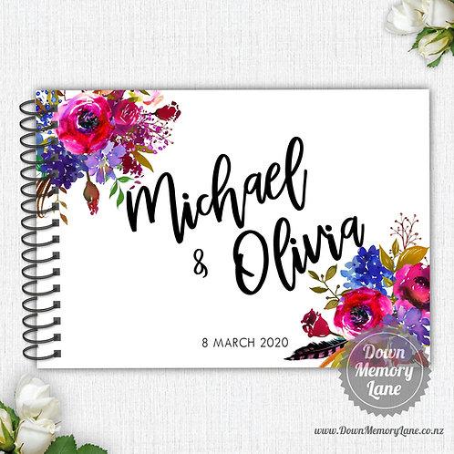 A4 Size - Magenta Florals