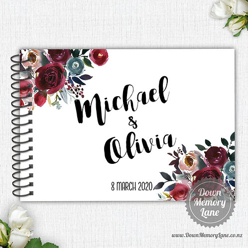 A4 Size - Merlot Florals