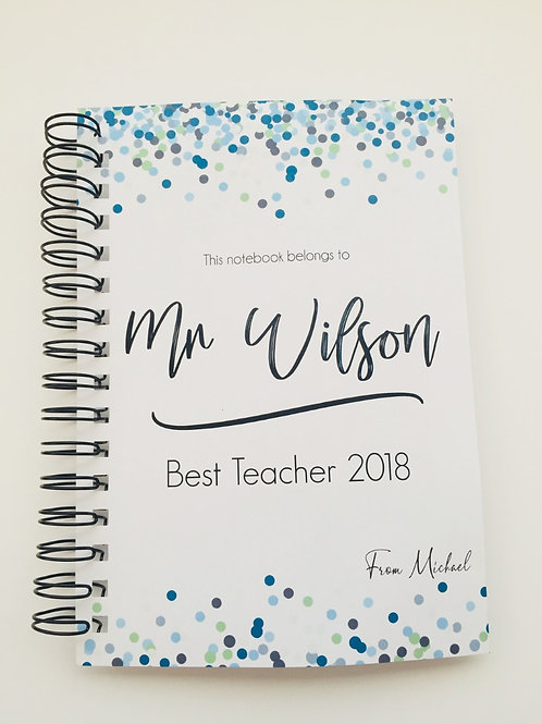 A4 Size - Gift Notebook - Blue Confetti