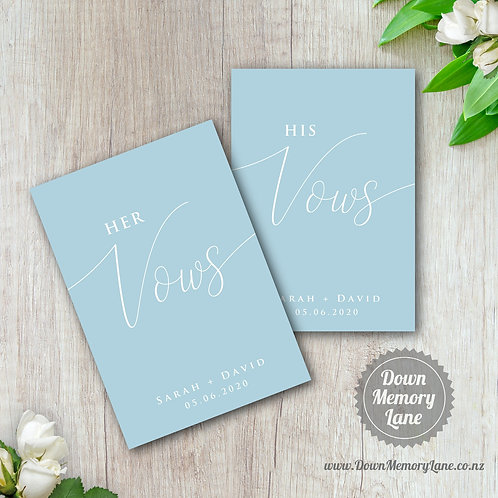 Vow Book - Classic Dusty Blue - Style 1