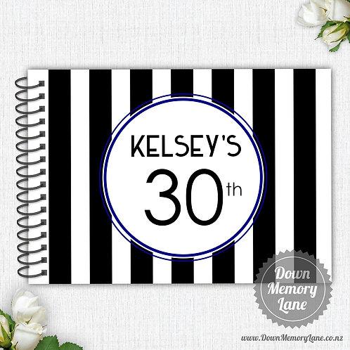 A4 Size - Birthday Bold Stripes