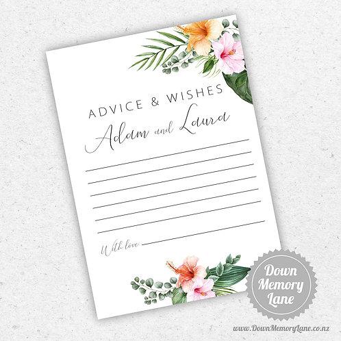 Advice Cards - Hibiscus