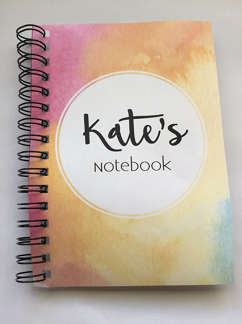 A4 Size - Notebook / Visual Diary - Watercolours