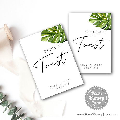 Toast Book - Contemporary Monstera - Style 1