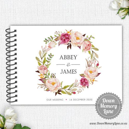 A4 Size - Blush Wreath