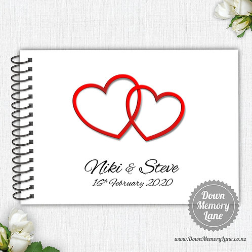 A4 Size - Intertwined Hearts