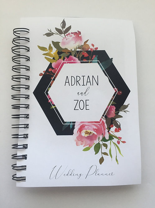 A4 Size - Geo Flowers on White