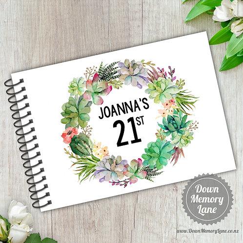 A5 Size - Birthday Succulent Wreath