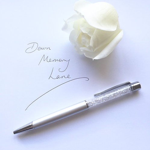 Swarovski Crystal Pen - Silver