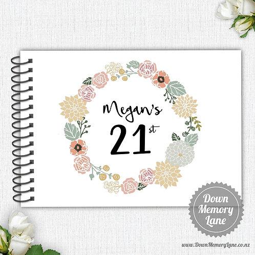 A4 Size - Birthday Floral Wreath