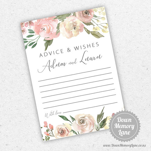 Advice Cards - Dusty Pink