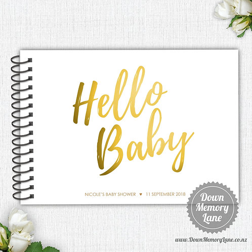 A4 Size - Hello Baby - Golden