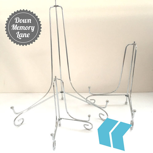 Silver Metal Display Stand - for A5 items