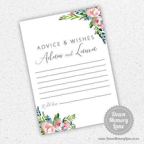 Advice Cards - Peony Pink