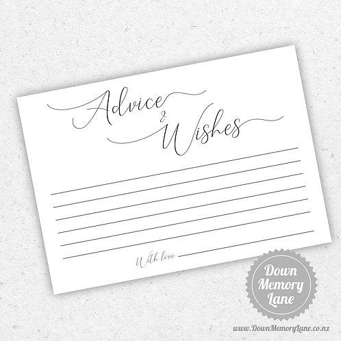Advice Cards - Elegance